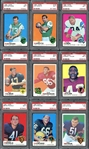 1969 Topps Football Complete Set with PSA Graded