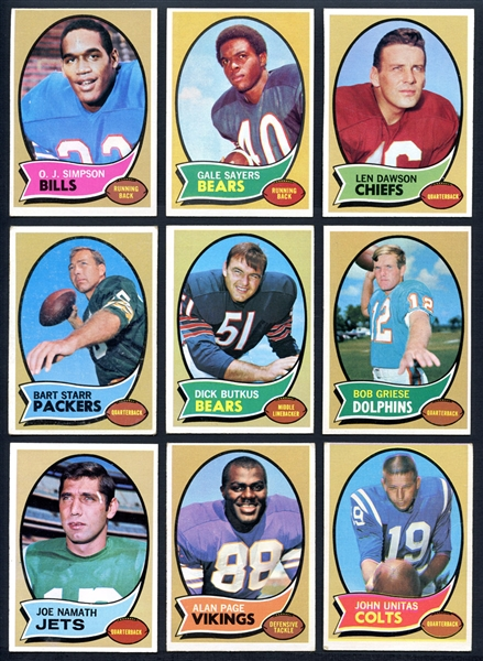 1970 Topps Football Complete Set