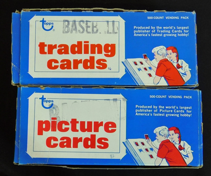 1976-1985 Topps Baseball Unopened Vending Boxes Group of (10)