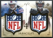 2014 Panini Immaculate 4s NFL Logo Quad Watkins/Cooks/Evans/Benjamin 1/1
