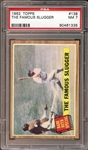 1962 Topps #138 The Famous Slugger (Ruth) PSA 7 NM