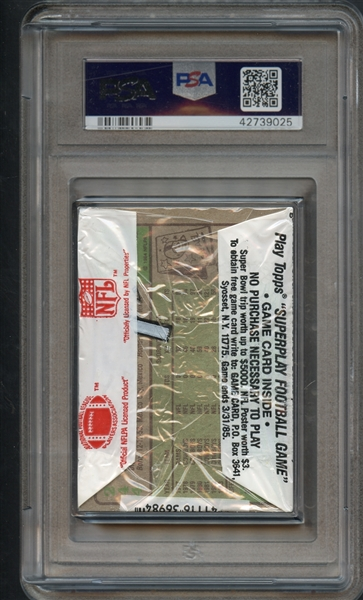 1984 Topps Football Cello Pack John Elway on Top PSA 9 MINT