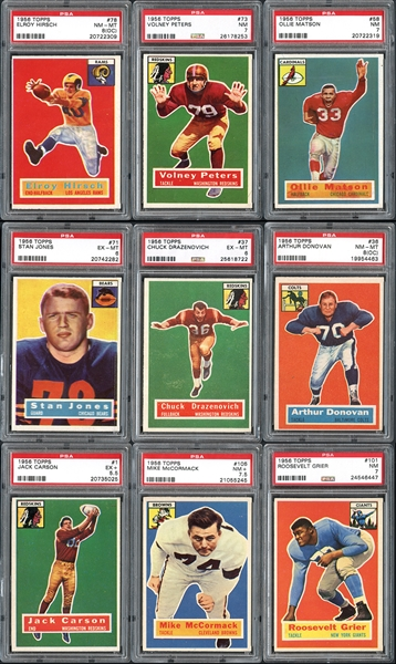 1956 Topps Football Complete Set with PSA Graded and Extras
