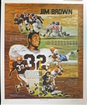 Jim Brown Signed Lithograph