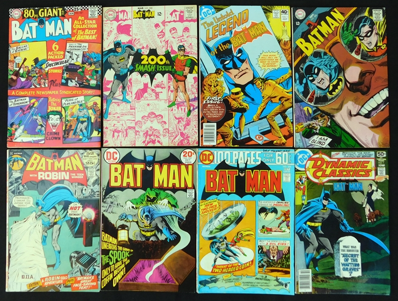 1966-1990 Batman Comic Book Group of (93)