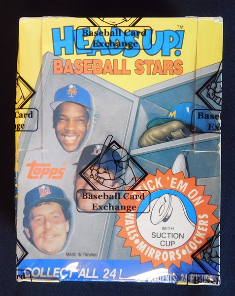 Exceptionally Rare 1989 Topps Heads Up! Baseball Stars Test Issue Unopened Wax Box BBCE