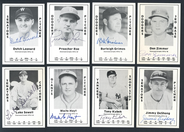 1979 Wallin Diamond Greats Autographed Group of (26) with Stars and HOFers