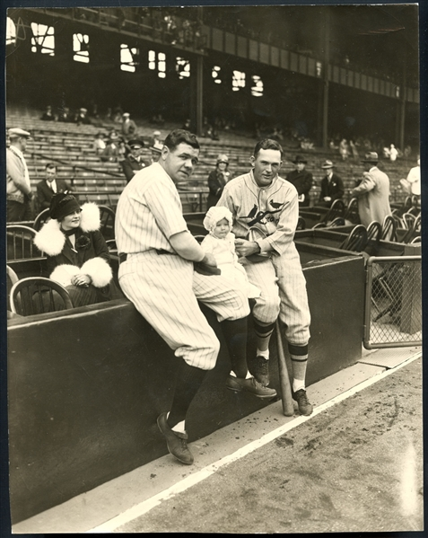 1926 Babe Ruth and Rogers Hornsby News Photo PSA/DNA Type 1