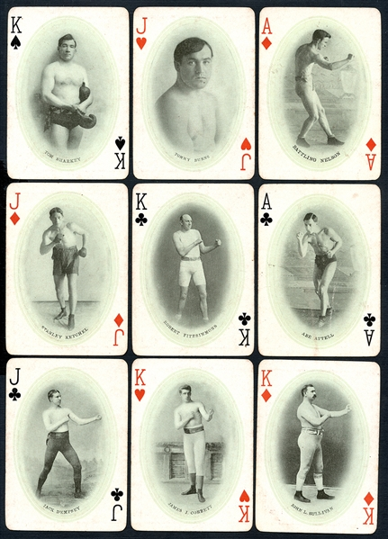 1909 James Jeffries Playing Cards Complete Set (No Joker) with Original Box