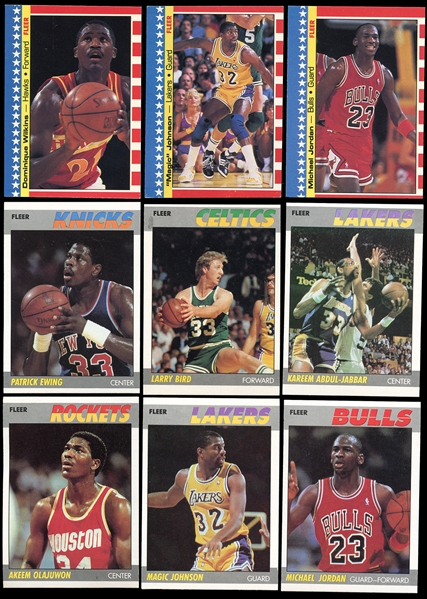 1987 Fleer Basketball Complete Set with Sticker Set