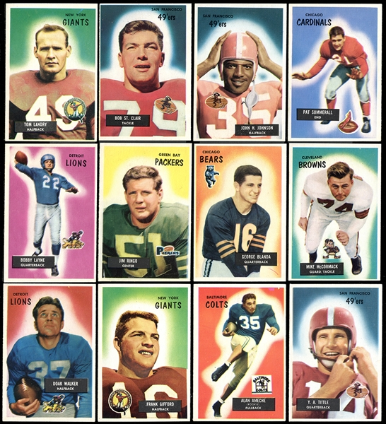 1955 Bowman Football Complete Set