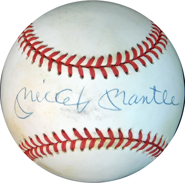 Mickey Mantle Single-Signed OAL (Brown) Ball UDA