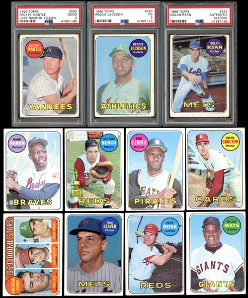 1969 Topps Baseball Complete Set with PSA Graded