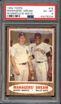 1962 Topps #18 Managers Dream Mantle/Mays PSA 6 EX/MT
