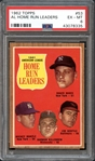 1962 Topps #53 A.L. Home Run Leaders PSA 6 EX/MT
