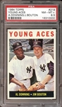 1964 Topps #219 Young Aces PSA 8.5 NM/MT+