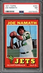 1971 Topps #250 Joe Namath PSA 7 NM