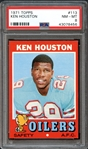 1971 Topps #113 Ken Houston PSA 8 NM/MT