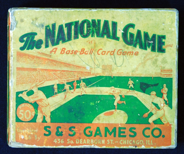 "1936 S&S ""The National Game"" Complete Set (52/52) with Original Box, Board and Rule Card"