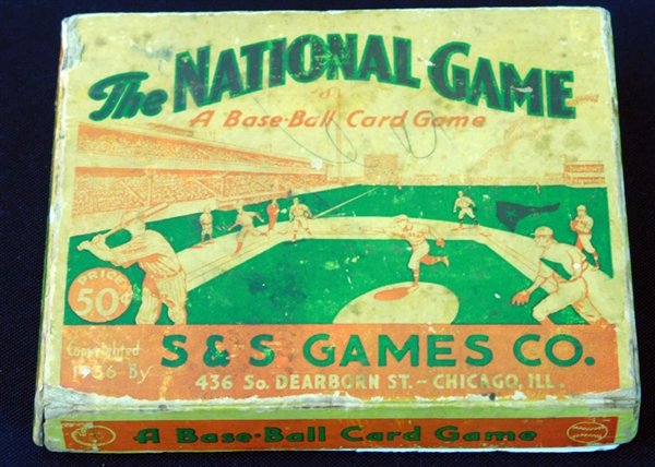1936 S&S The National Game Complete Set (52/52) with Original Box, Board and Rule Card