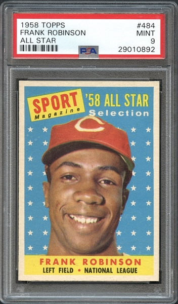 1958 Topps #484 Frank Robinson All Star PSA 9 MINT
