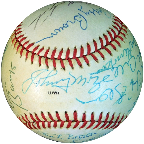 Star and HOF Multi-Signed ONL (Feeney) Ball with (16) Signatures
