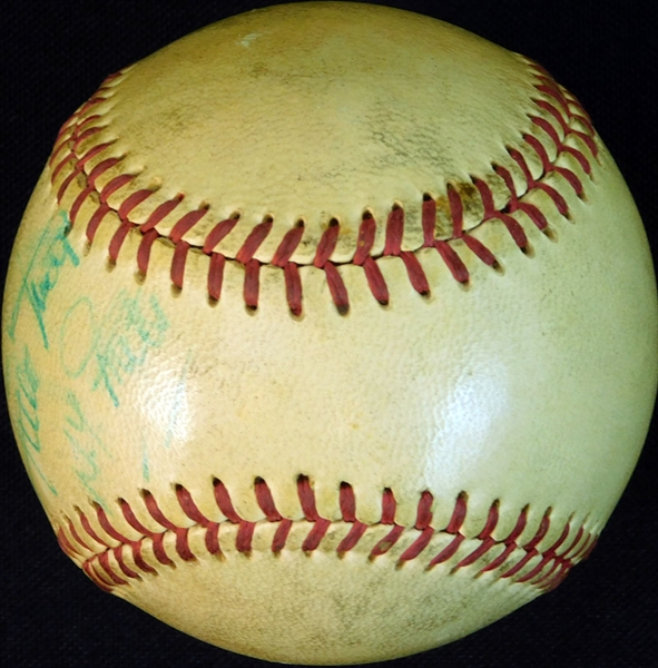 Willie Mays Signed and Inscribed Baseball