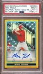 2009 Bowman Chrome DP & Pros Autos Gold Refractor #BDPP89 Mike Trout 04/50 PSA 9 MINT AUTO 10