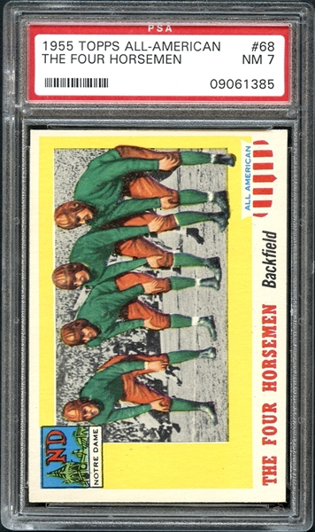 1955 Topps All-American #68 The Four Horsemen PSA 7 NM