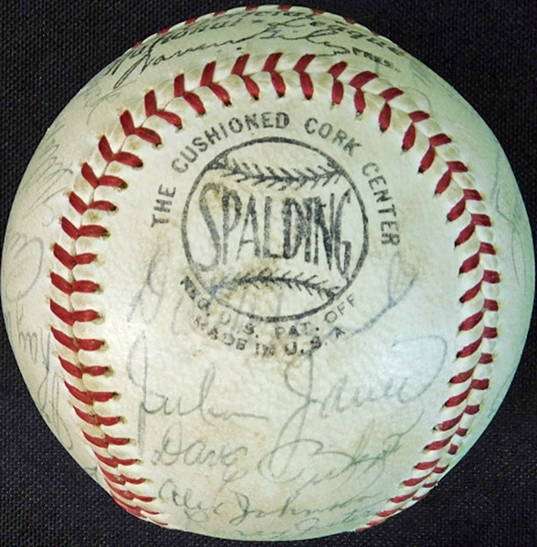 1967 St. Louis Cardinals World Champions Team-Signed ONL (Giles) Ball with (24) Signatures