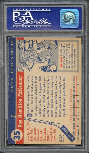 1954 Topps #35 Don McKenney PSA 8 NM-MT