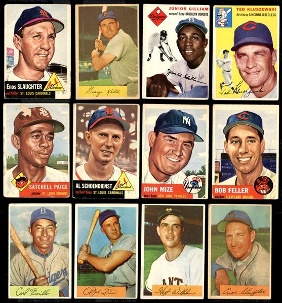 1950s-1970s Topps and Bowman Baseball Shoebox Collection of (159) with Stars and HOFers
