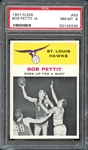 1961 Fleer #59 Bob Pettit In Action PSA 8 NM-MT