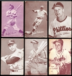 1940s-1970 Exhibits, Topps and Parkhurst Baseball Collection of (152) with Stars and HOFers