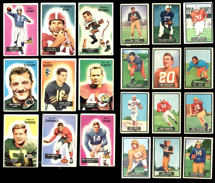 1950s Topps and Bowman Football Collection of (116) with Near Complete 1951 Topps Magic Set