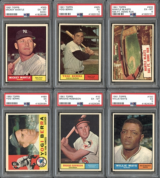 1960-61 Topps Group of (14) All PSA Graded with Stars & Hall of Famers