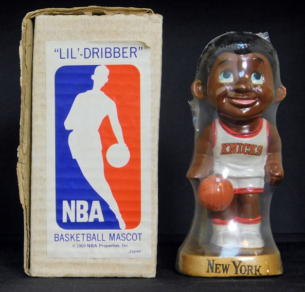 "1969 ""Lil-Dribbler"" New York Knicks Basketball Mascot Doll"