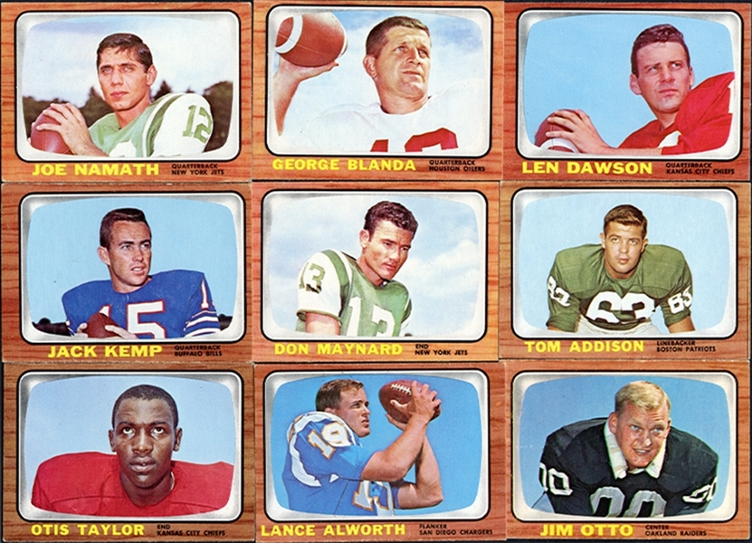 1966 Topps Football Complete Set Minus Ring Checklist Plus Extras