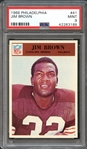 1966 Philadelphia #41 Jim Brown PSA 9 MINT