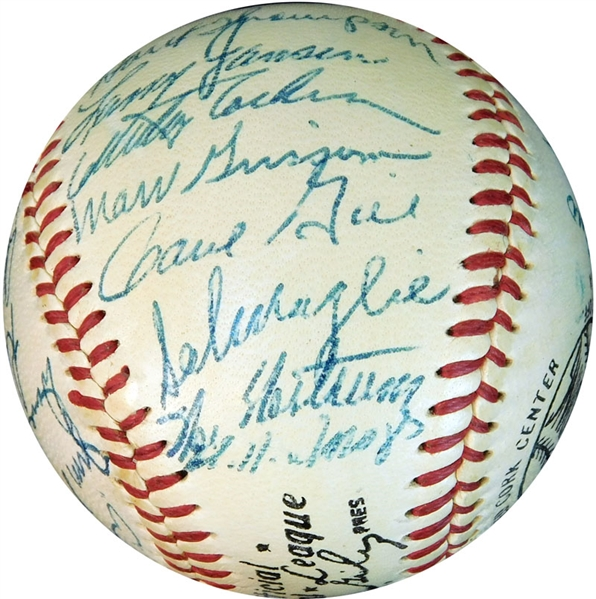 1954 World Champion New York Giants Team-Signed ONL (Giles) Ball with (29) Signatures