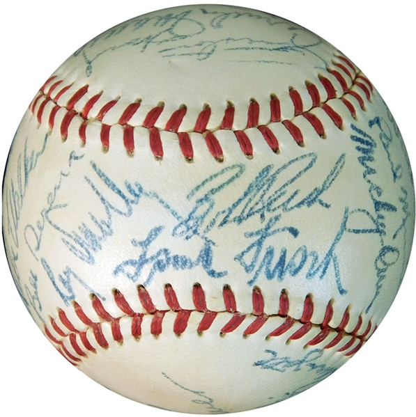 1950 Chicago Cubs Team-Signed ONL (Frick) Ball with (24) Signatures