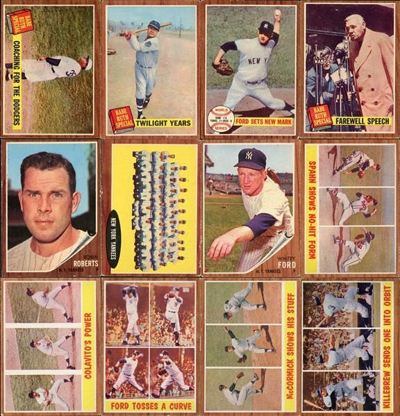 1960-65 Topps Baseball Shoebox Collection Of (58) With Stars & Hall Of Famers