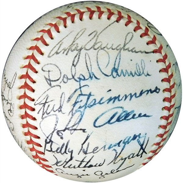 1943 Brooklyn Dodgers Team-Signed Baseball with (28) Signatures