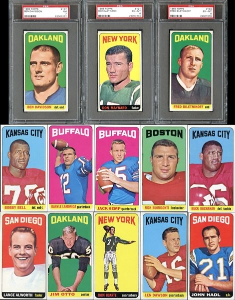 1965 Topps Football Complete Set Missing Namath Rookie