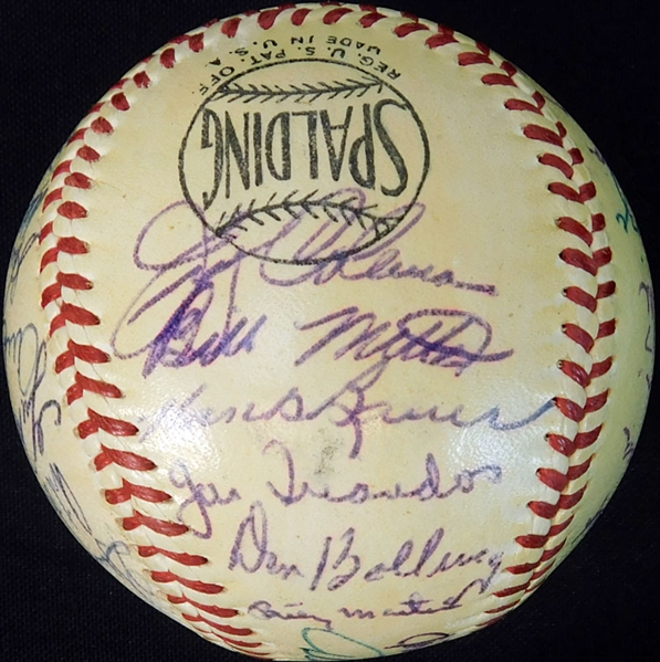 1953 World Champion New York Yankees Team-Signed Baseball with (29) Signatures