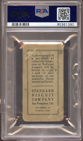 Spectacular 1916 D350-1 Standard Biscuit #151 Babe Ruth PSA 2 GOOD