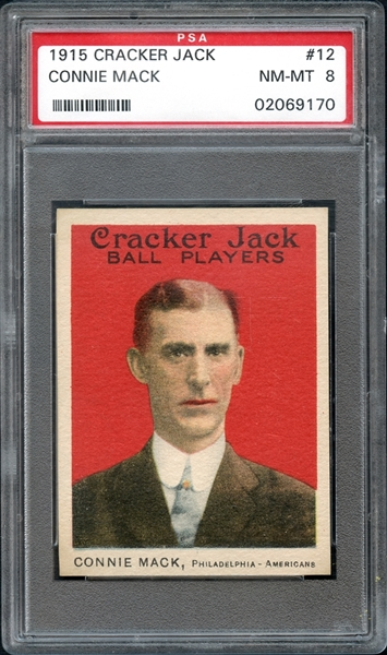 1915 Cracker Jack #12 Connie Mack PSA 8 NM-MT