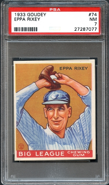 1933 Goudey #74 Eppa Rixey PSA 7 NM