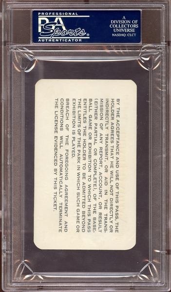 1966 MLB National League Parks Pass PSA 9 MINT