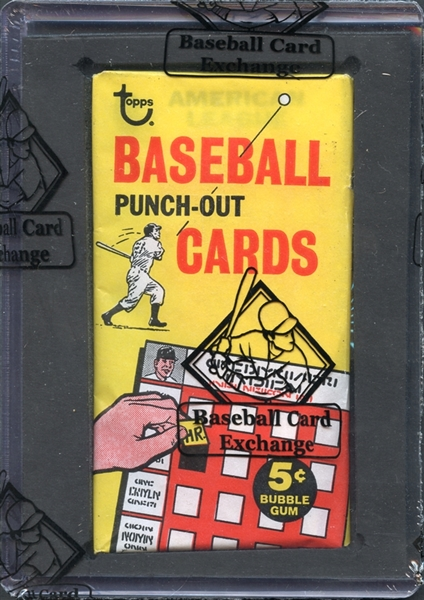 Extremely Rare 1967 Topps Punch Out Unopened Wax Pack